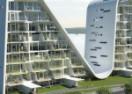 Nehir kenarında bir dalga bina 'Wave Residences'