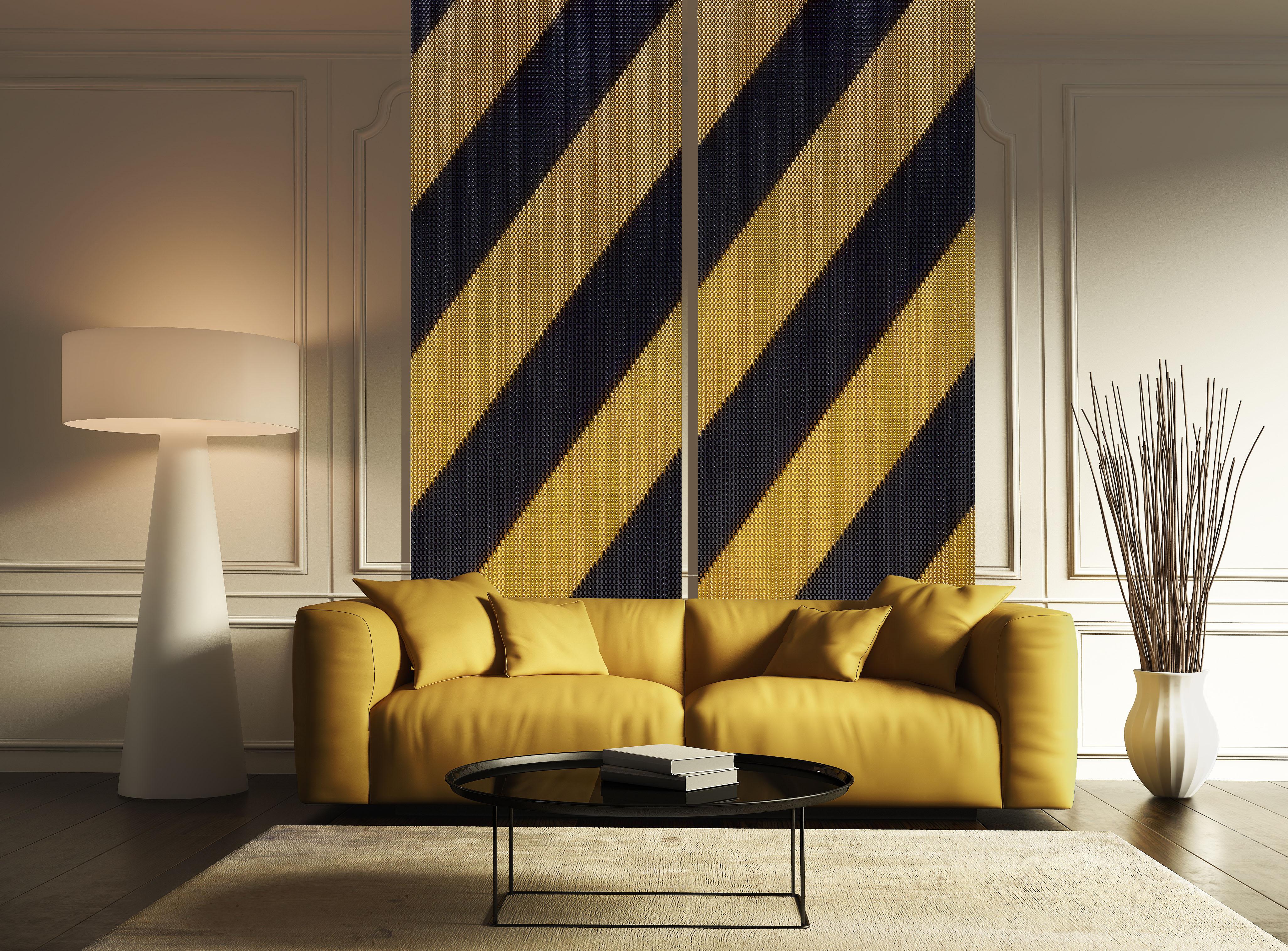 Stripes+Black+26+Gold