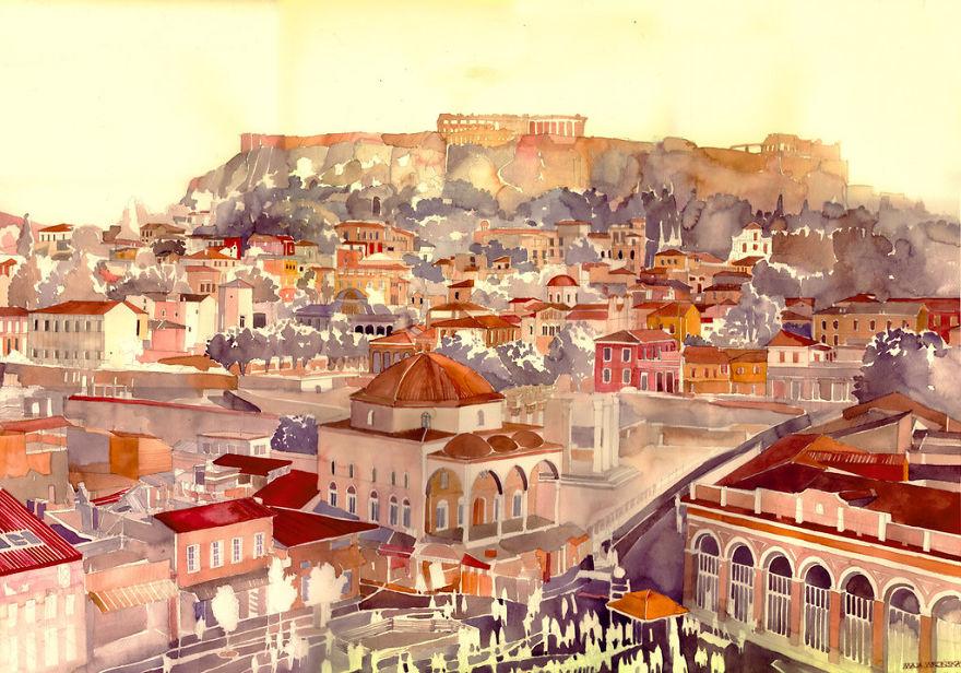 watercolors-from-around-the-world-by-Polish-architect-Maja-Wroska-57173988e33c5__880