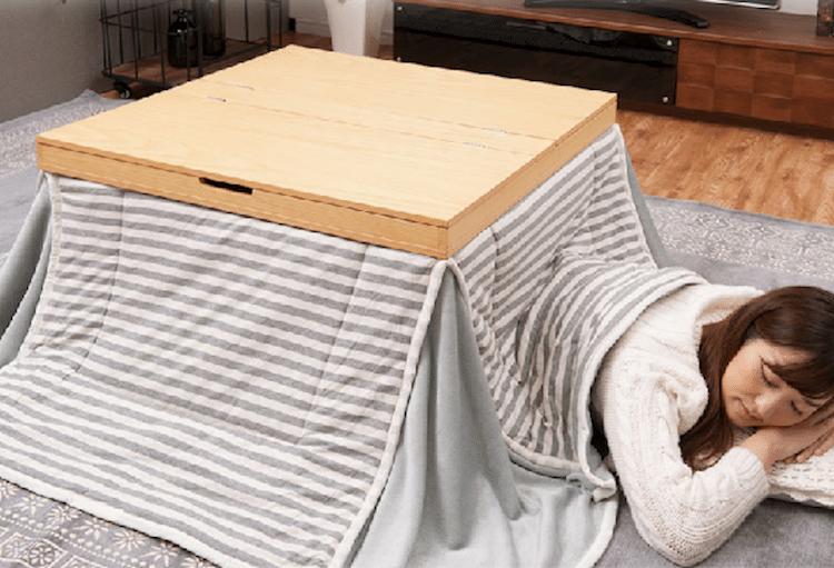 Mod ler bir japon masa tasar m 39 kotatsu 39 for Table design japon